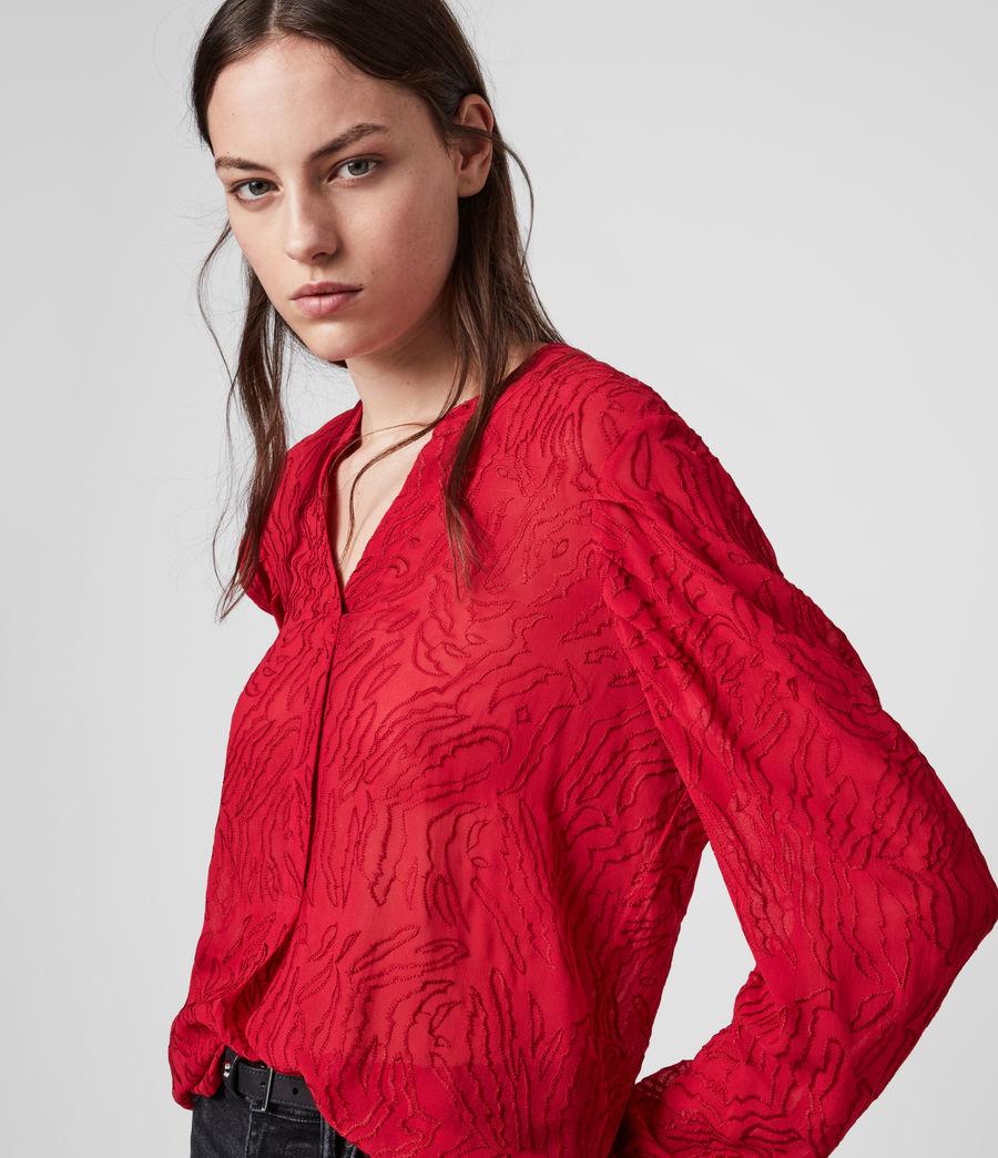 Damen Rosi Ani Top (red) - Image 3