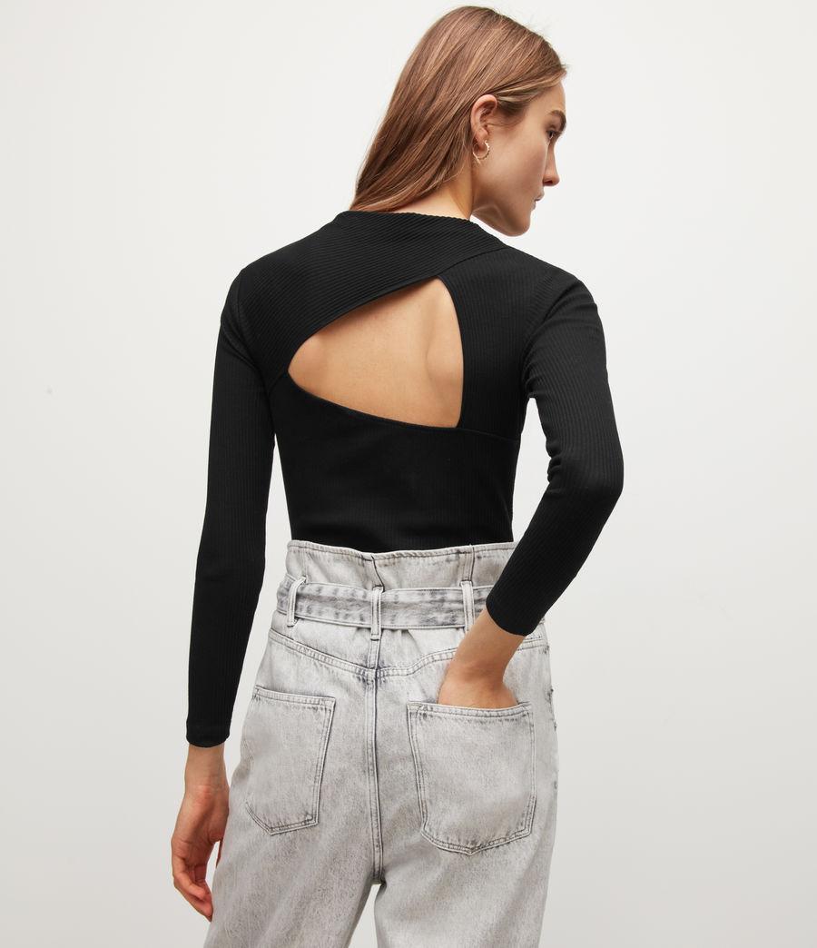 Womens Gia Bodysuit (black) - Image 2