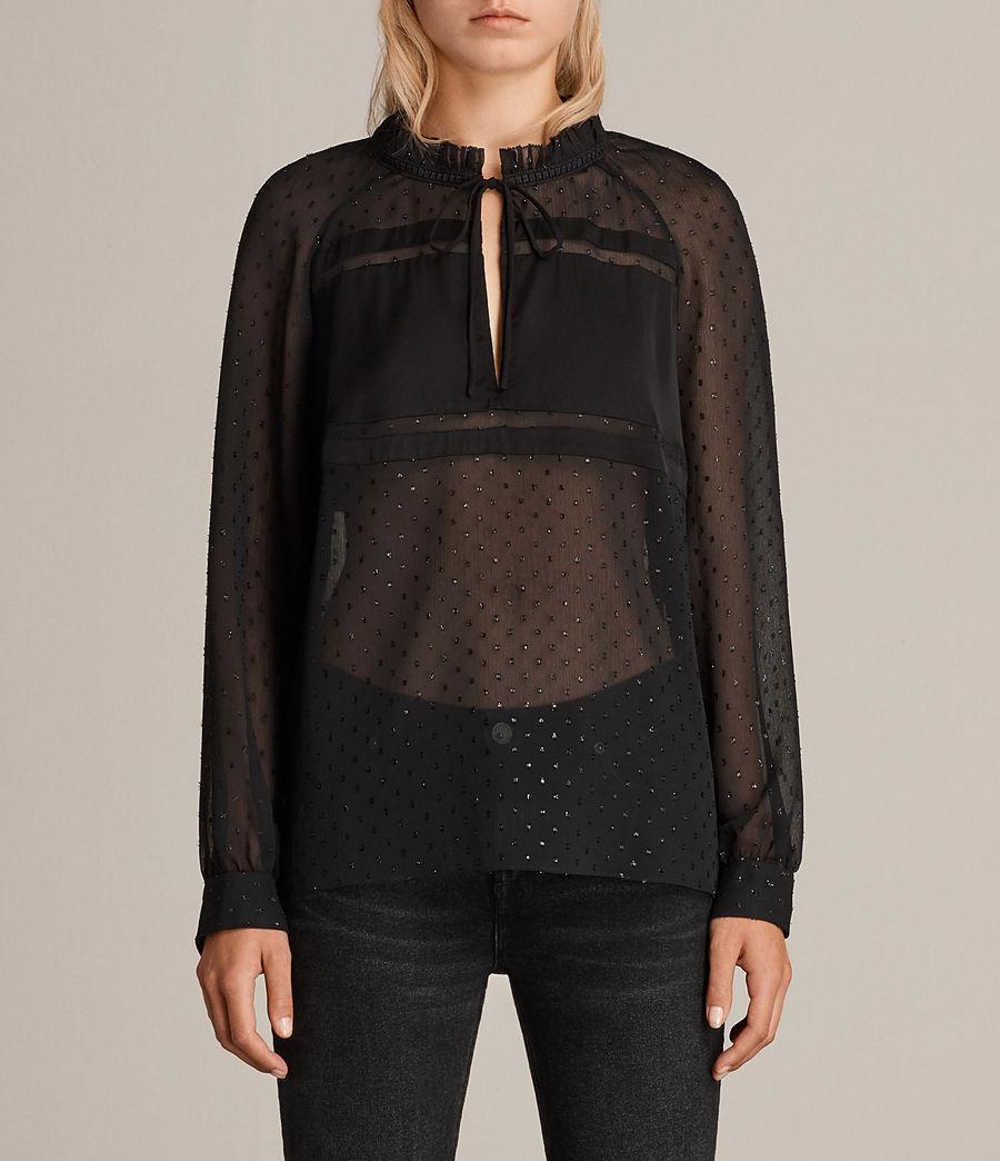 Women's Veda Shimmer Top (black) - Image 1