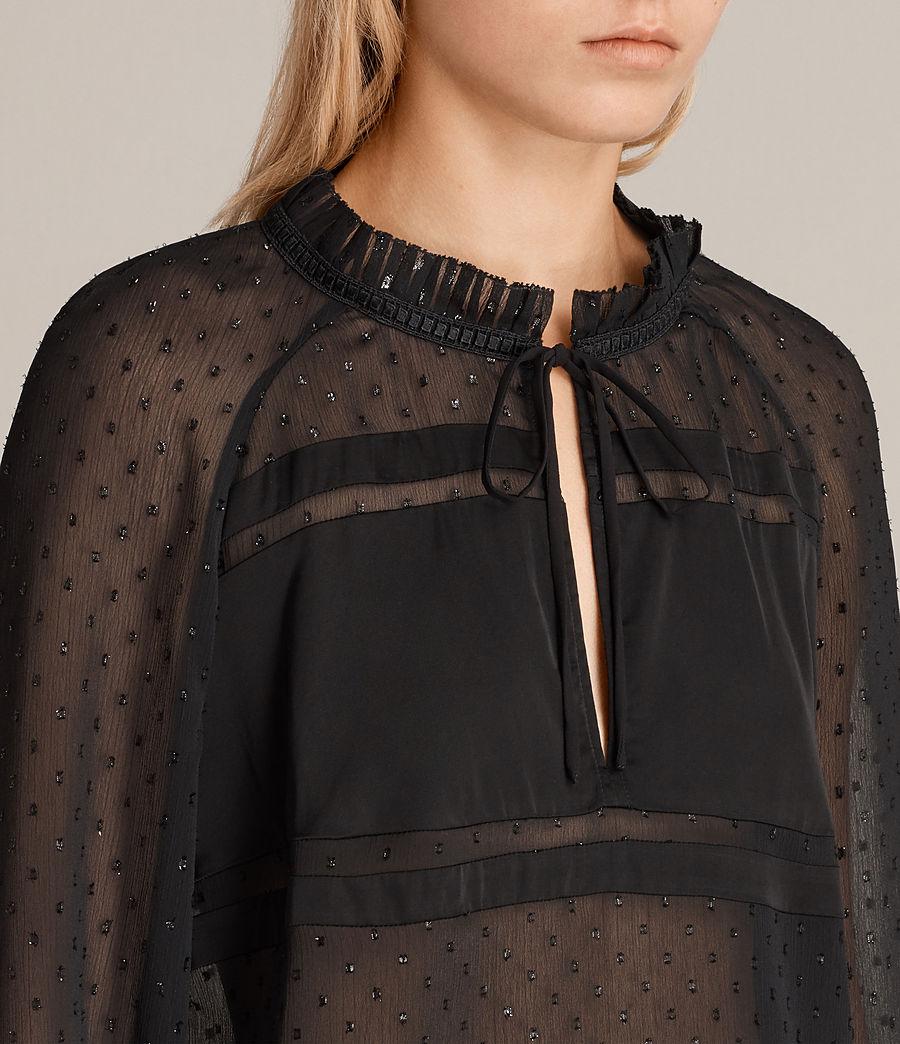 Women's Veda Shimmer Top (black) - Image 2