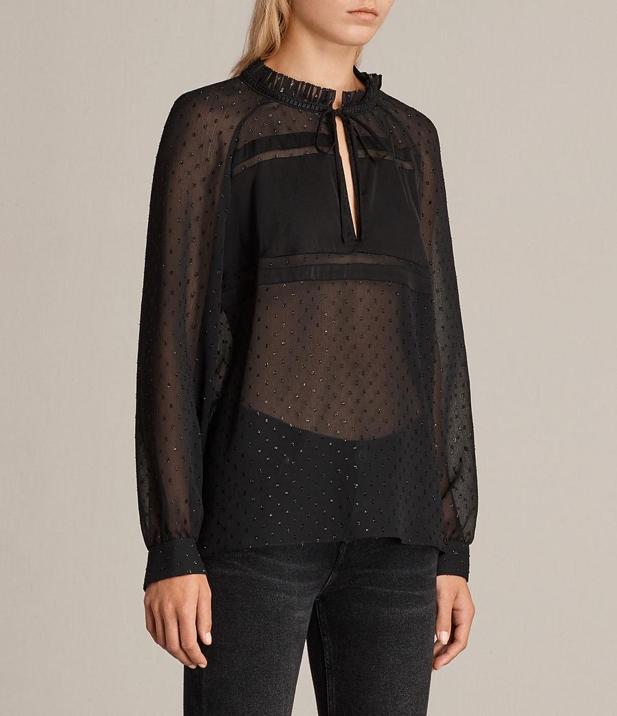 Women's Veda Shimmer Top (black) - Image 3