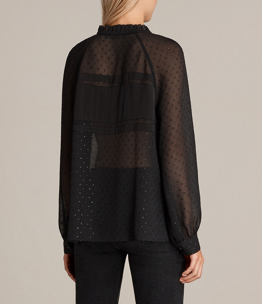 Women's Veda Shimmer Top (black) - Image 4