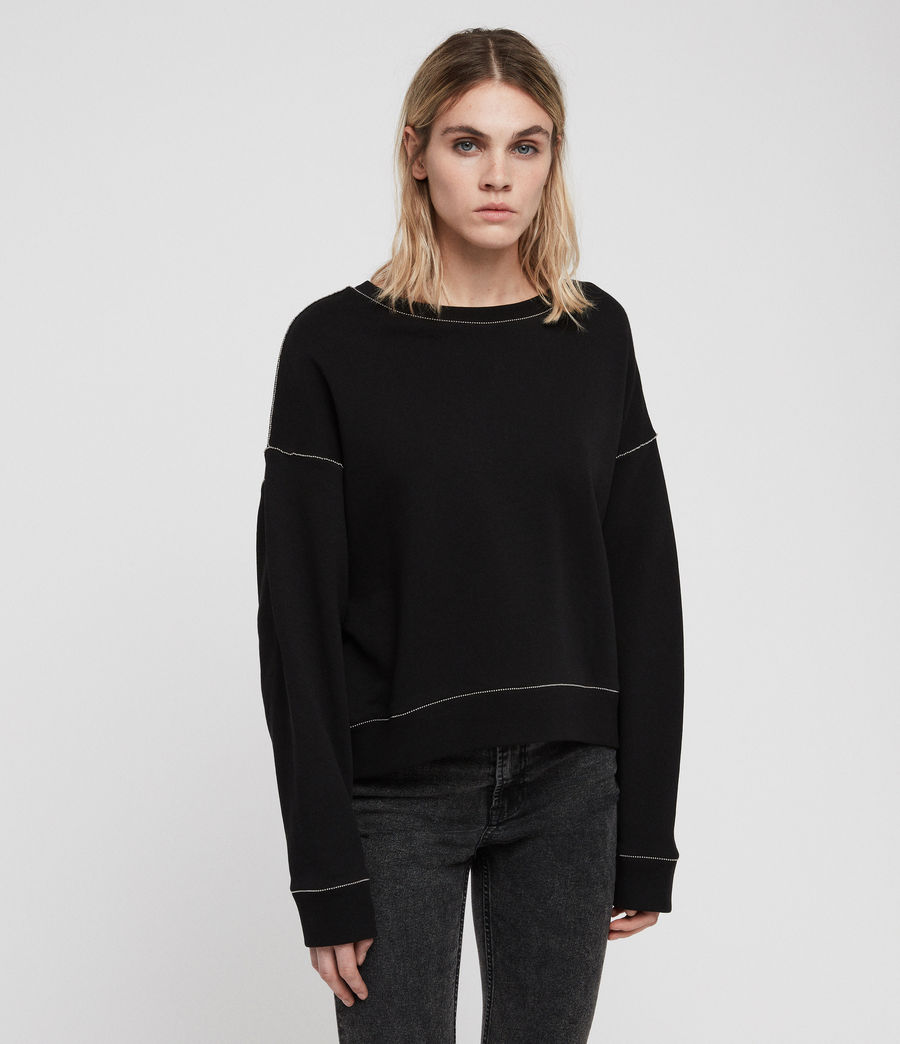 Damen Janey Sweatshirt (black) - Image 1
