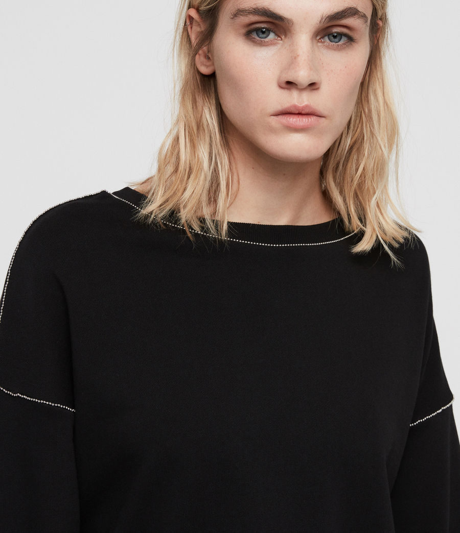 Damen Janey Sweatshirt (black) - Image 2