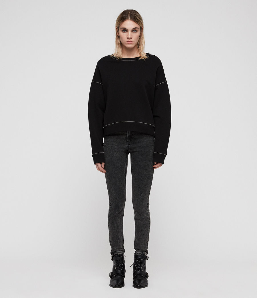 Damen Janey Sweatshirt (black) - Image 3