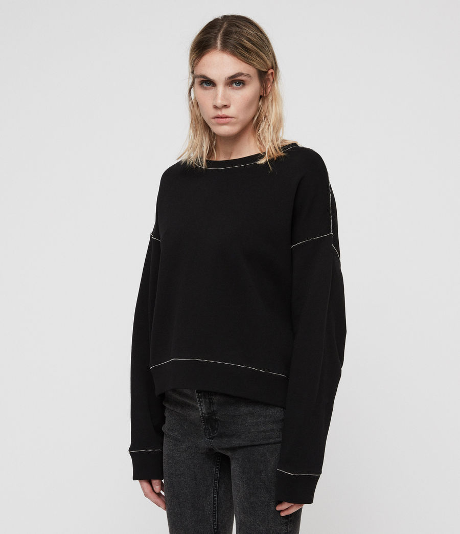 Women's Janey Sweatshirt (black) - Image 4