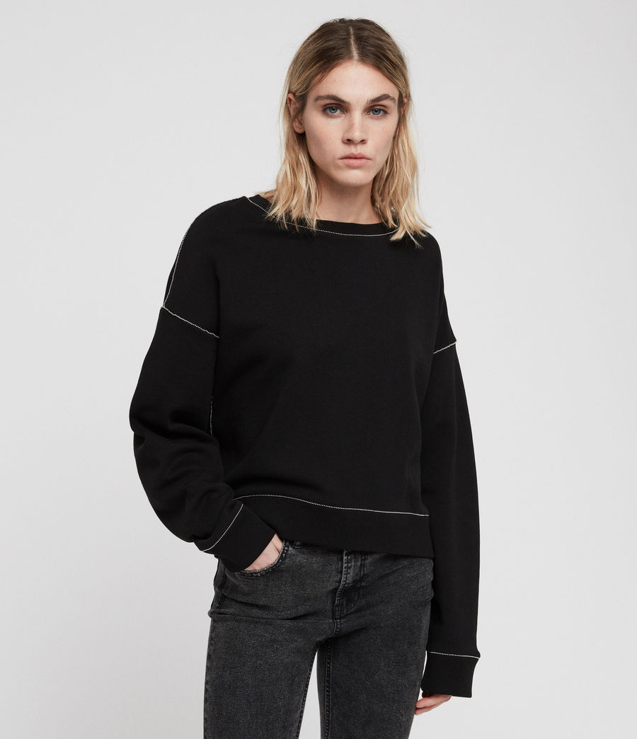 Damen Janey Sweatshirt (black) - Image 5