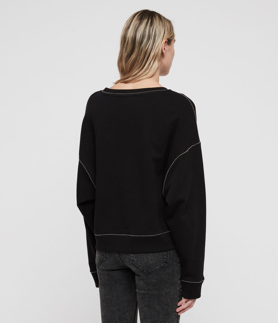 Women's Janey Sweatshirt (black) - Image 6
