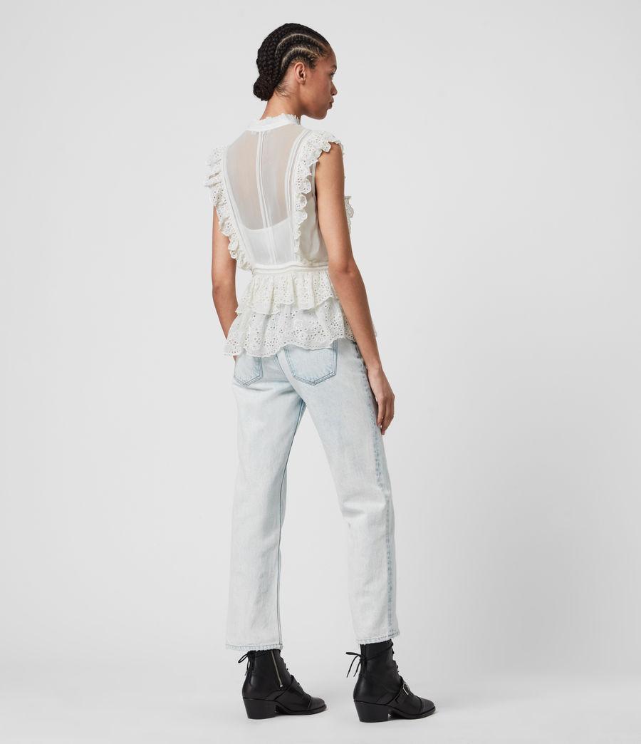 Womens Lola Emb Top (chalk_white) - Image 6