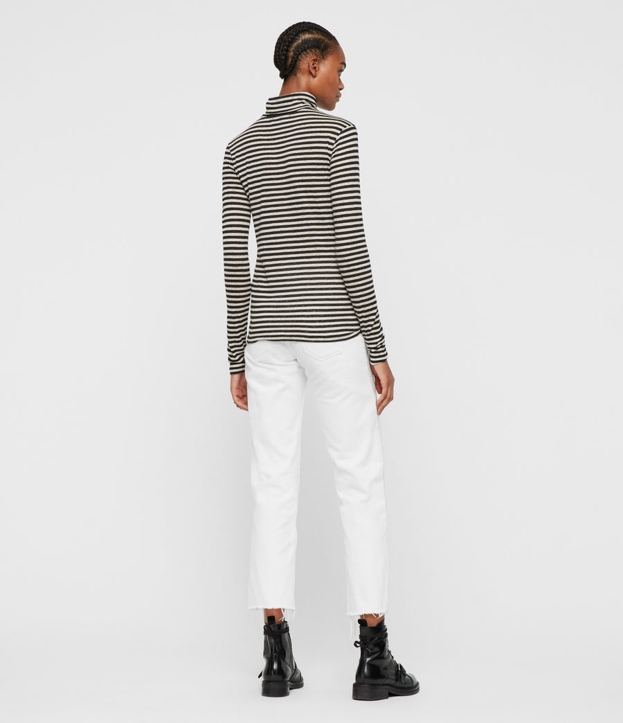 Womens Lake Stripe Rollneck Top (chalk_ink_blue) - Image 5