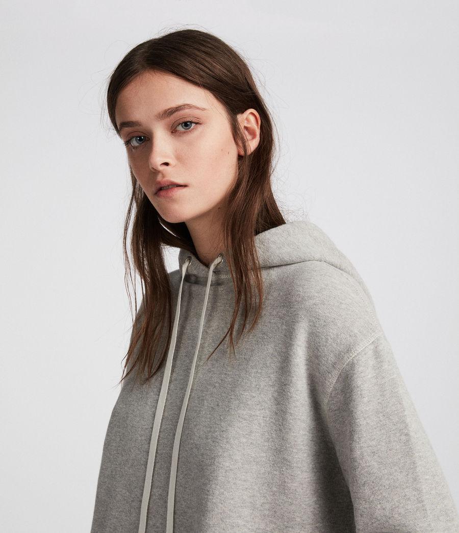 Mujer Sudadera con capucha Mila (grey_marl) - Image 3