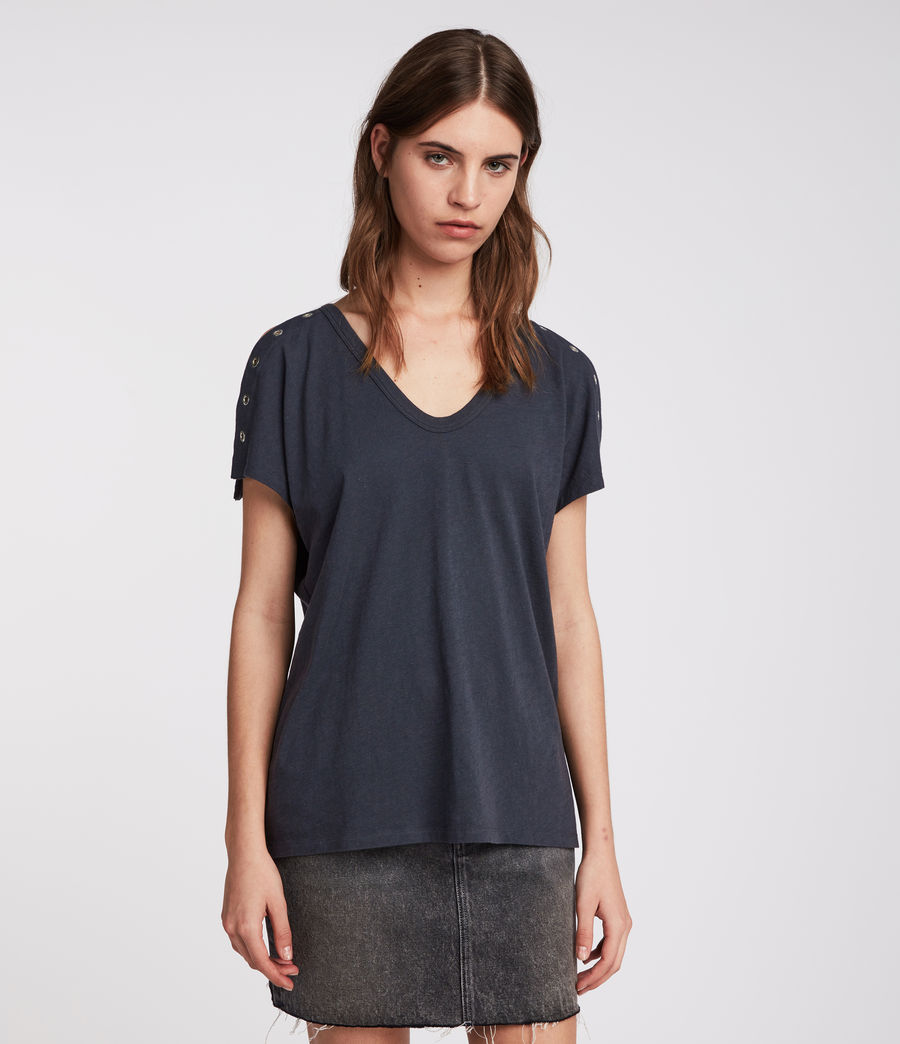 Women's Cruz Ida T-Shirt (washed_black) - Image 1