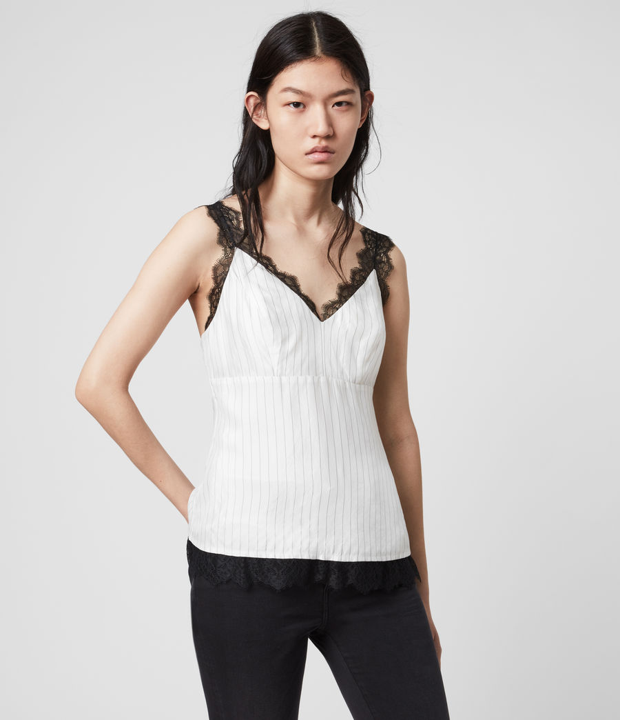 Women's Skylar Lace Top (chalk_white) - Image 1