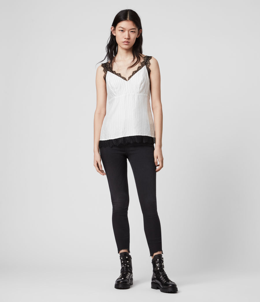 Women's Skylar Lace Top (chalk_white) - Image 3