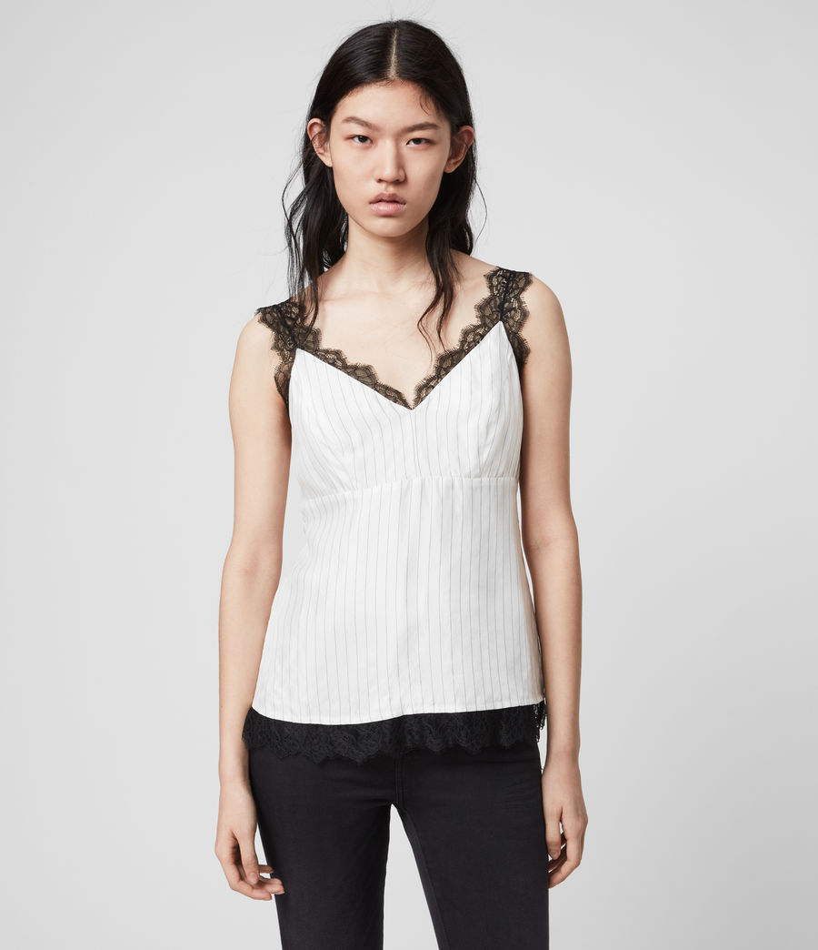 Women's Skylar Lace Top (chalk_white) - Image 4