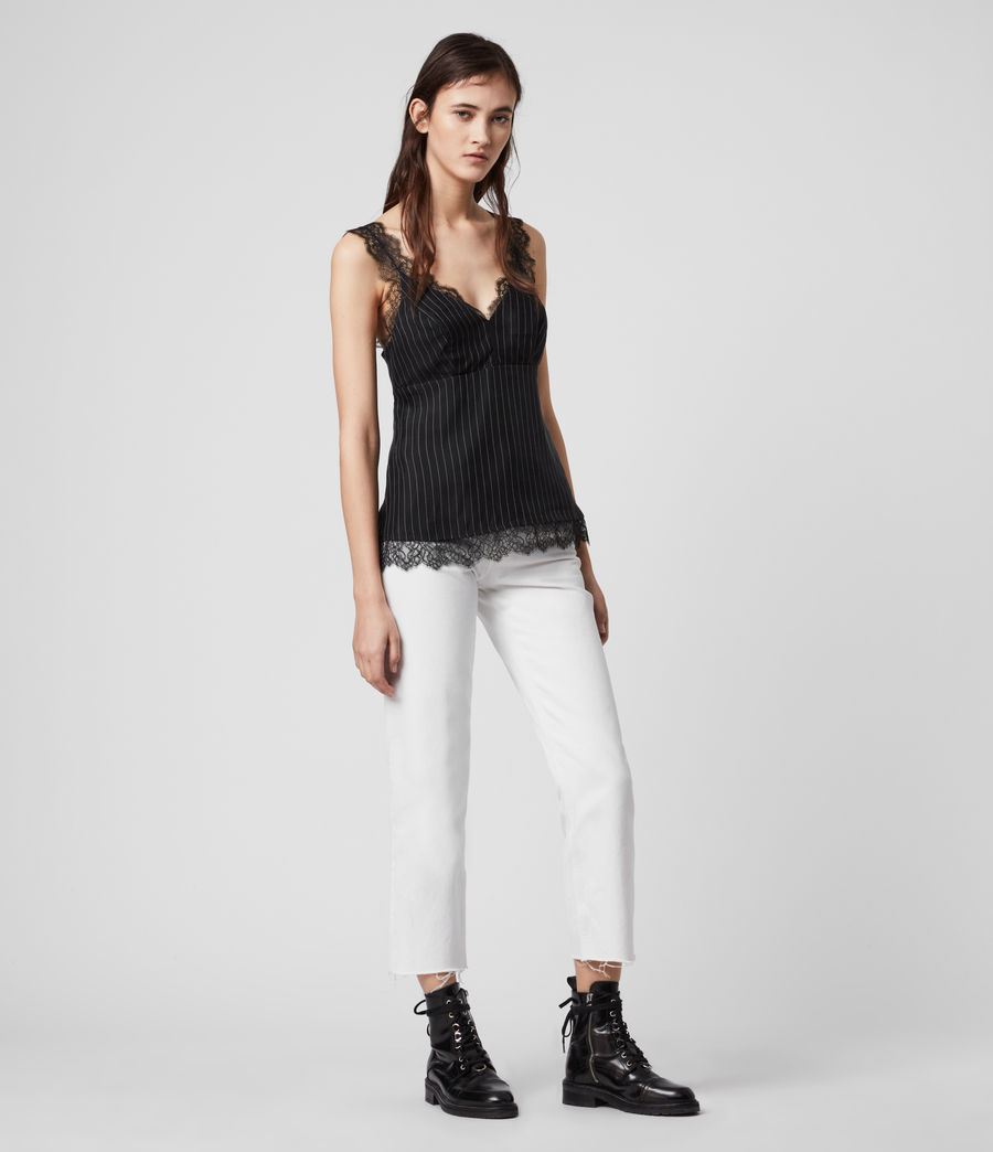 Women's Skylar Lace Top (black) - Image 3