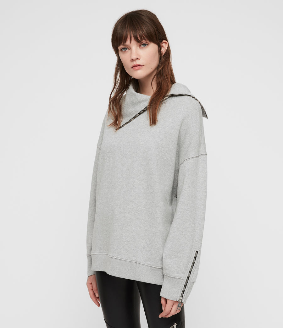 Damen Bella Sweatshirt (grey_marl) - Image 1