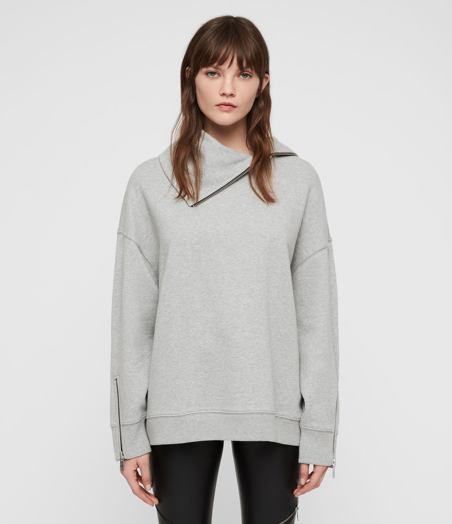 Damen Bella Sweatshirt (grey_marl) - Image 4