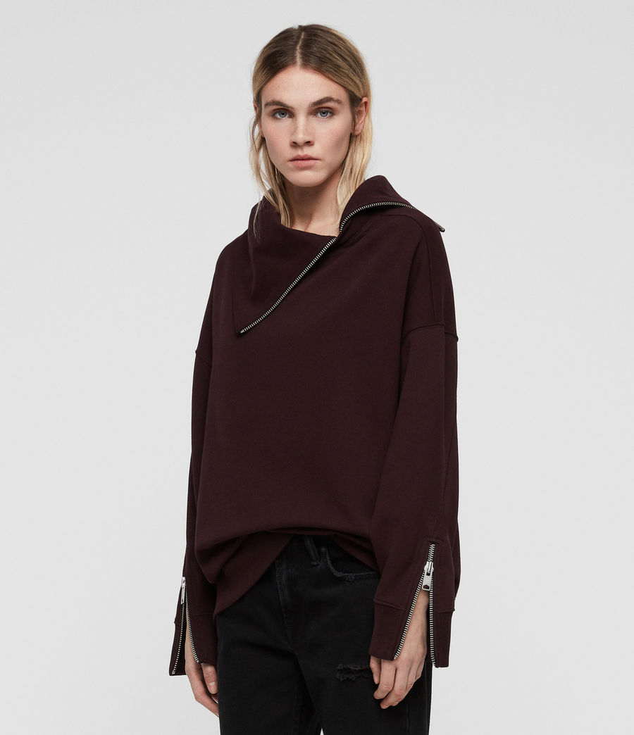 Women's Bella Sweatshirt (dark_burgundy_red) - Image 1