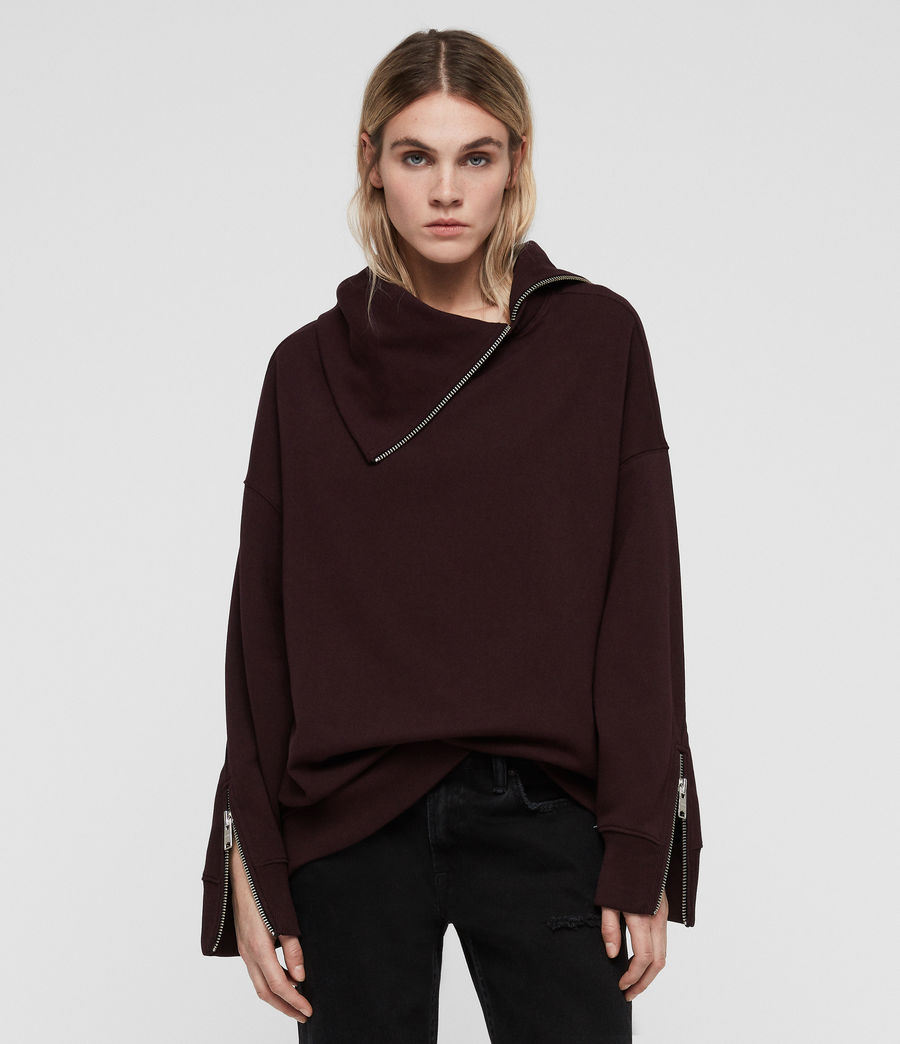 Women's Bella Sweatshirt (dark_burgundy_red) - Image 3