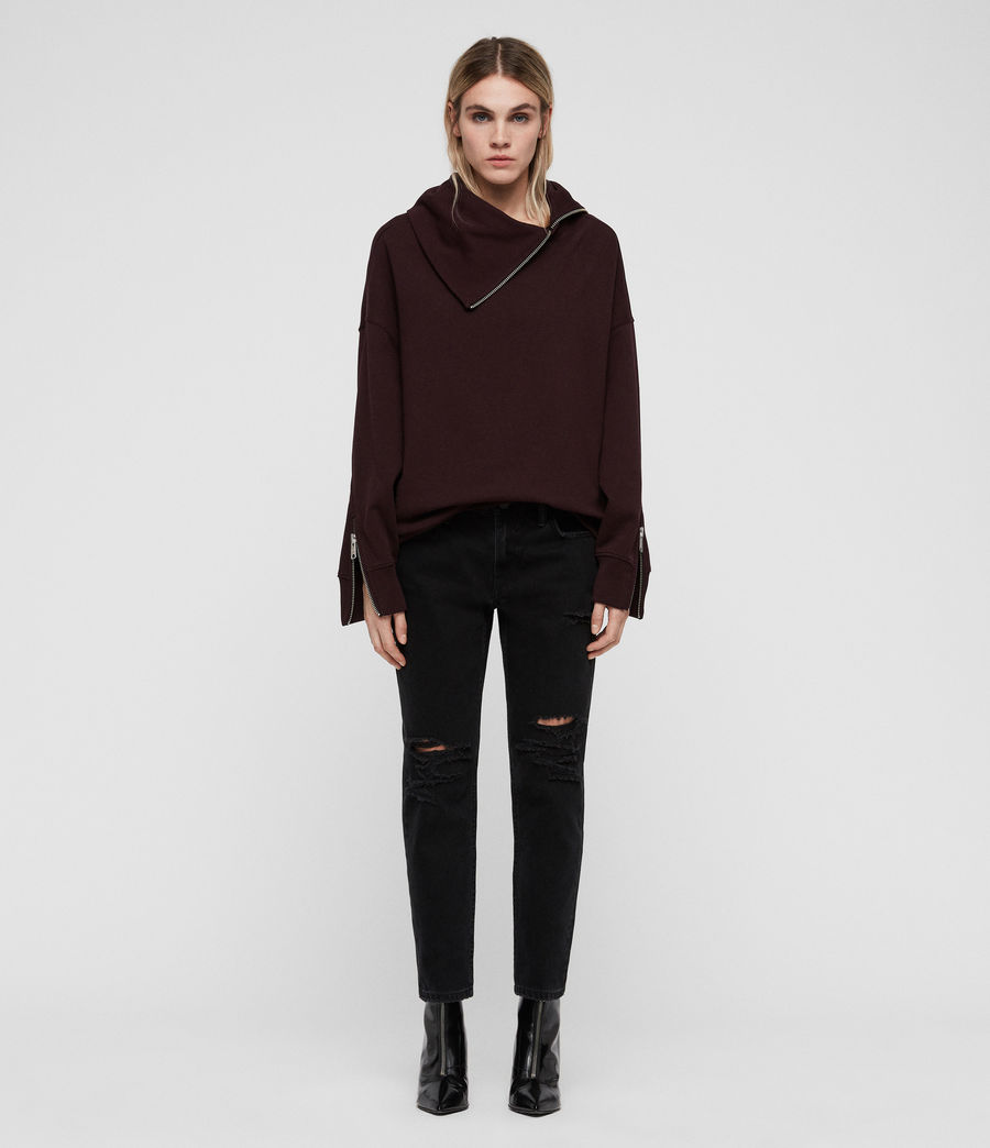 Women's Bella Sweatshirt (dark_burgundy_red) - Image 4