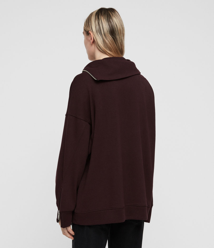 Women's Bella Sweatshirt (dark_burgundy_red) - Image 5