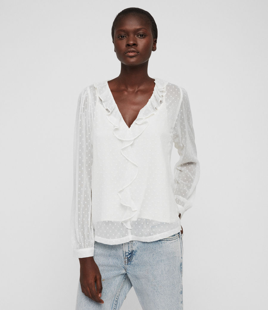 Damen Ari Top (chalk_white) - Image 1