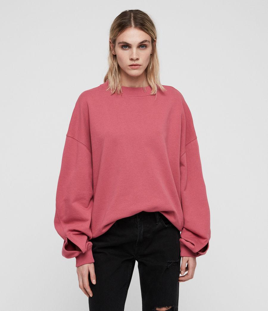 Women's Dino Sweatshirt (rose_pink) - Image 1