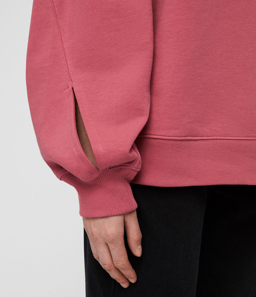 Women's Dino Sweatshirt (rose_pink) - Image 2
