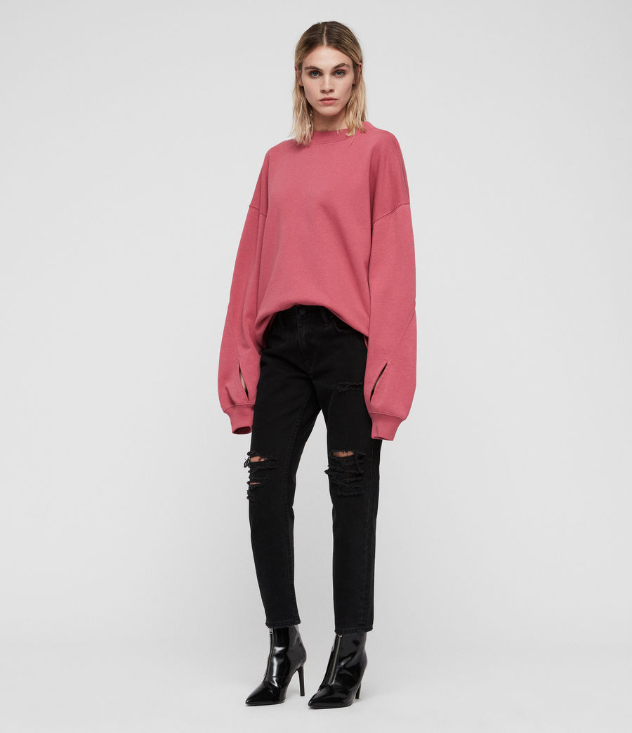 Women's Dino Sweatshirt (rose_pink) - Image 3