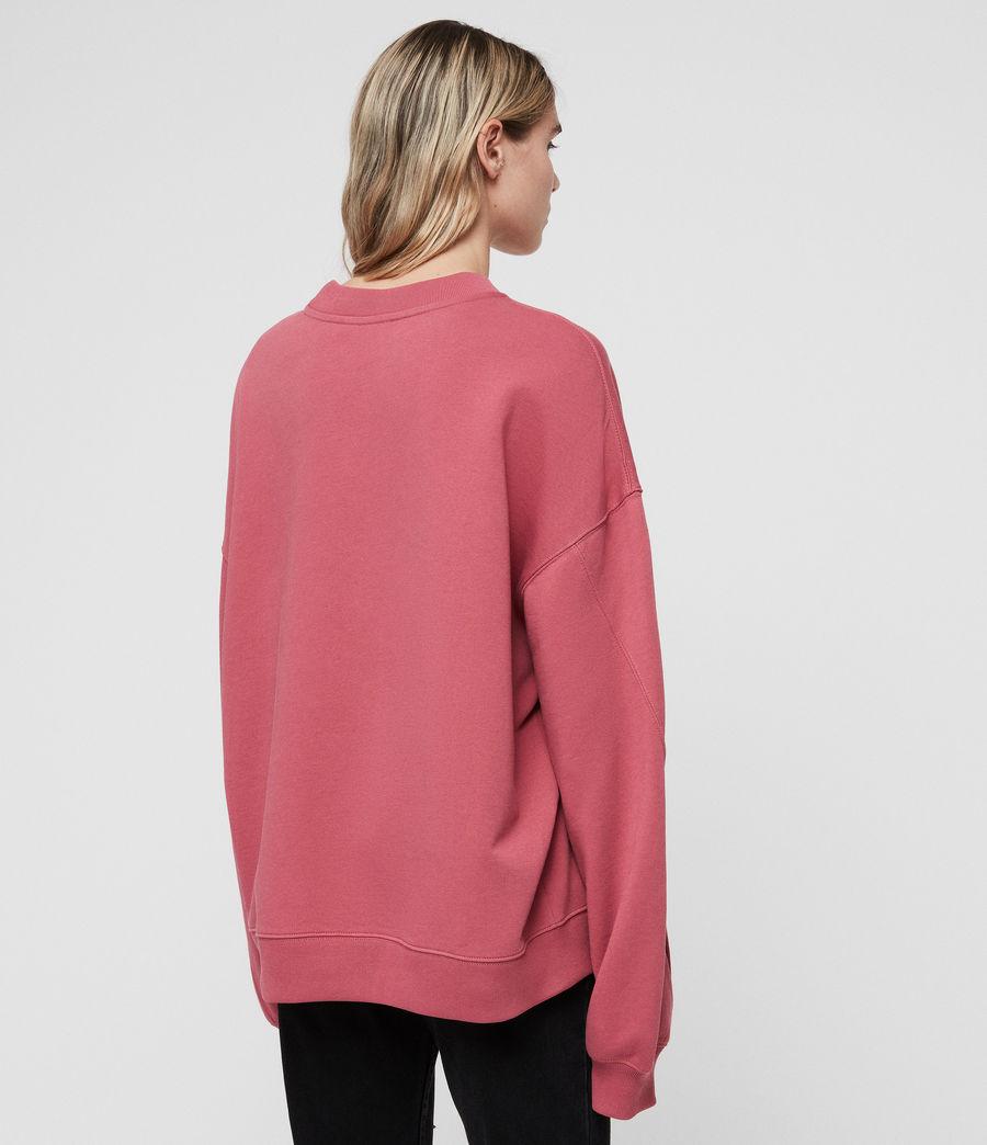 Women's Dino Sweatshirt (rose_pink) - Image 4