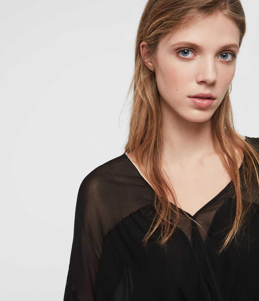 Womens Penny Sheer Top (black) - Image 3