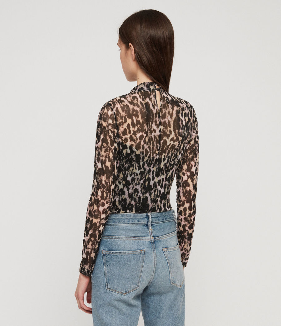 Mujer Body Elia Leopard (yellow) - Image 5