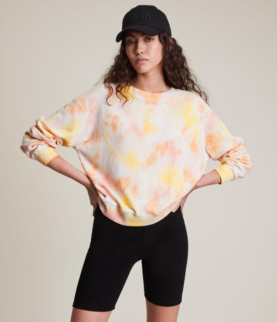 Damen We Are Pippa Tie Dye Sweatshirt (sunflower_bloom) - Image 1