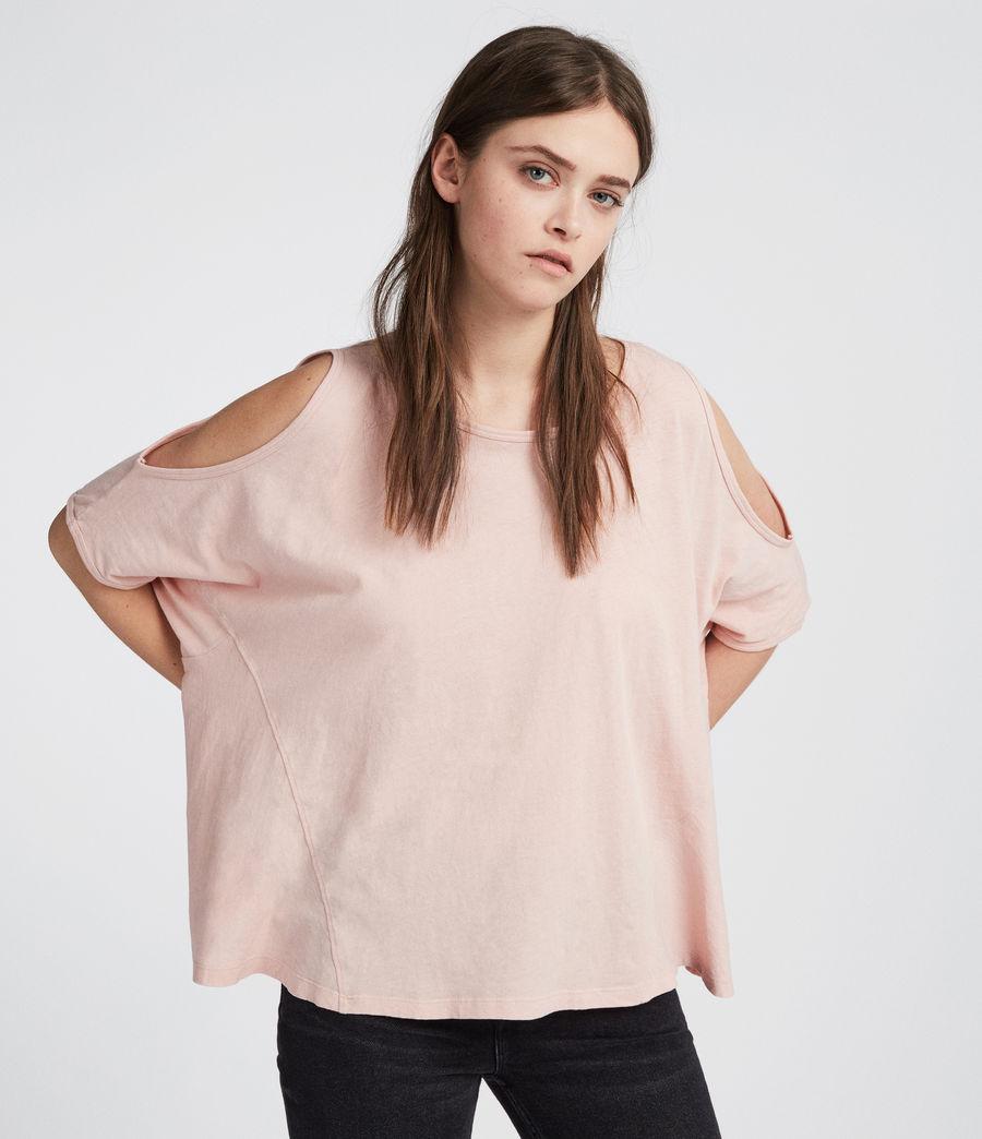 Womens Ella Fifi T-Shirt (dusk_pink) - Image 3