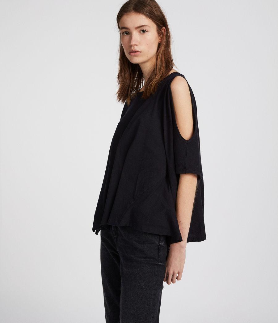 Damen Ella Fifi T-Shirt (jet_black) - Image 1