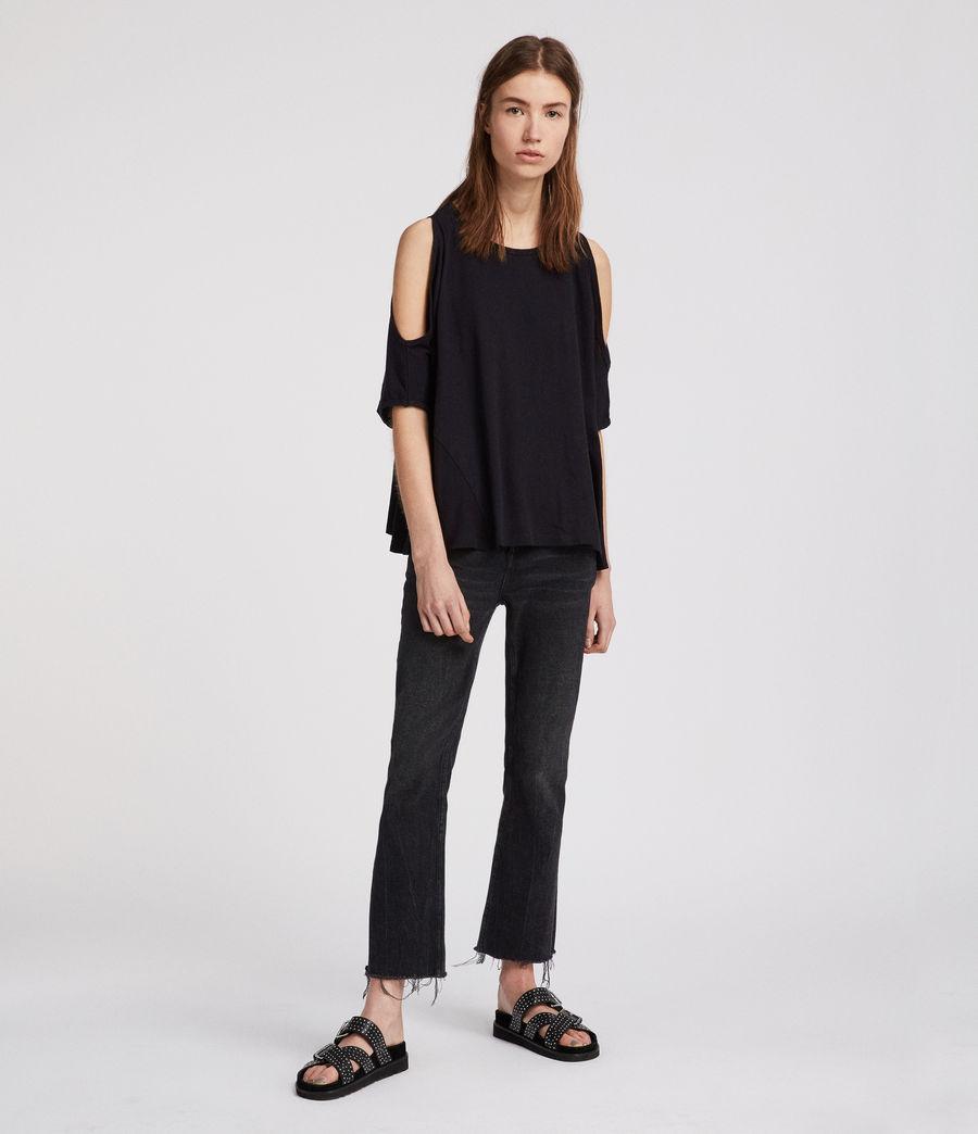 Damen Ella Fifi T-Shirt (jet_black) - Image 2