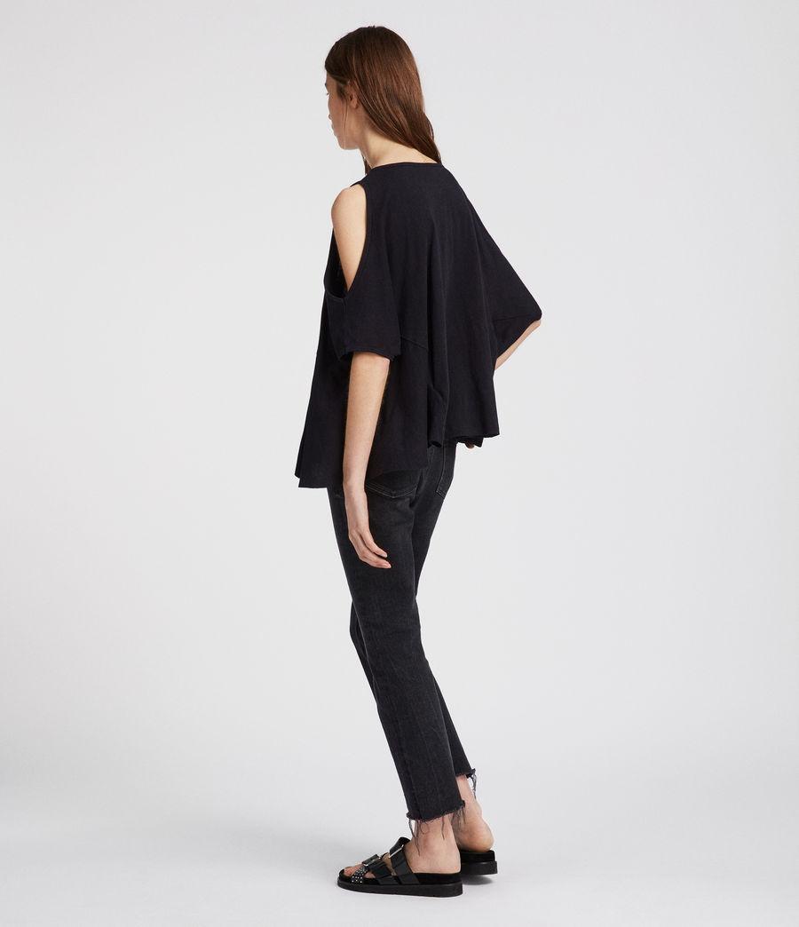 Damen Ella Fifi T-Shirt (jet_black) - Image 3
