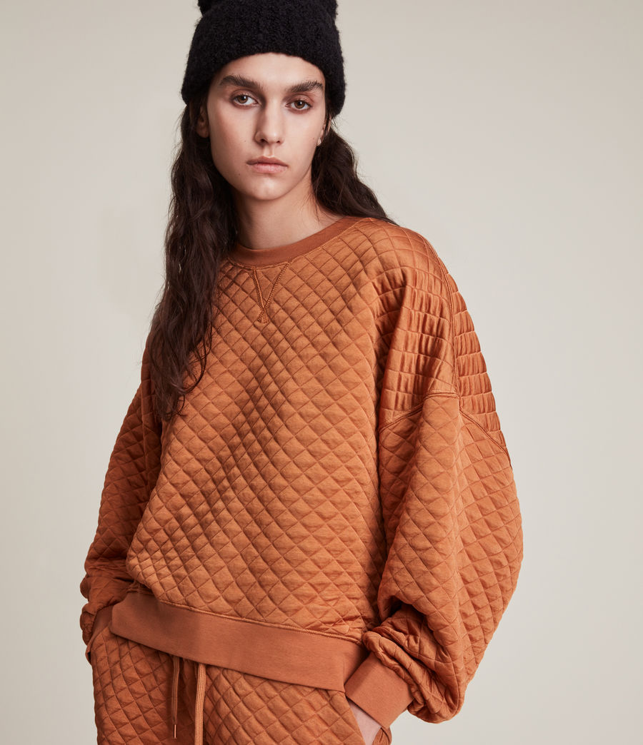 Womens Vela Sweatshirt (rust_orange) - Image 2
