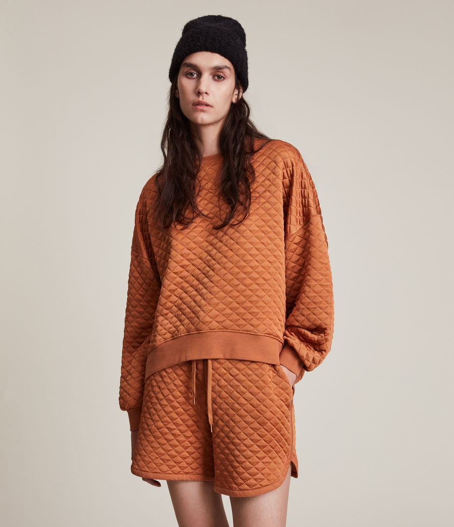 Womens Vela Sweatshirt (rust_orange) - Image 3