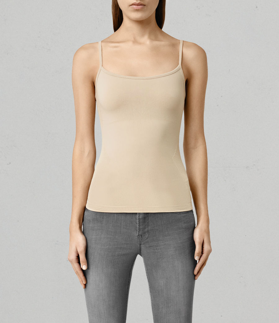 Mujer Camiseta sin tirantes Bri (taupe) - Image 1