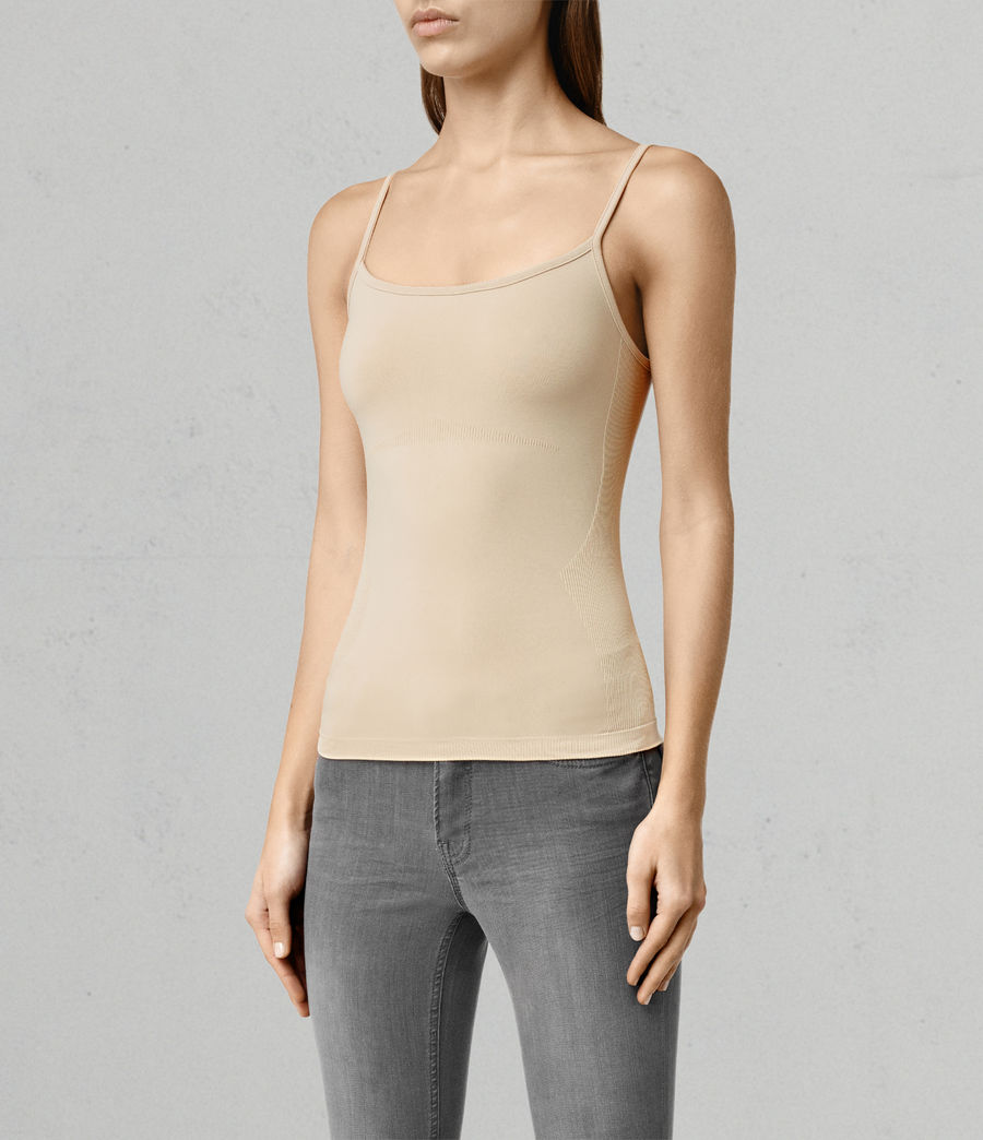 Mujer Camiseta sin tirantes Bri (taupe) - Image 2