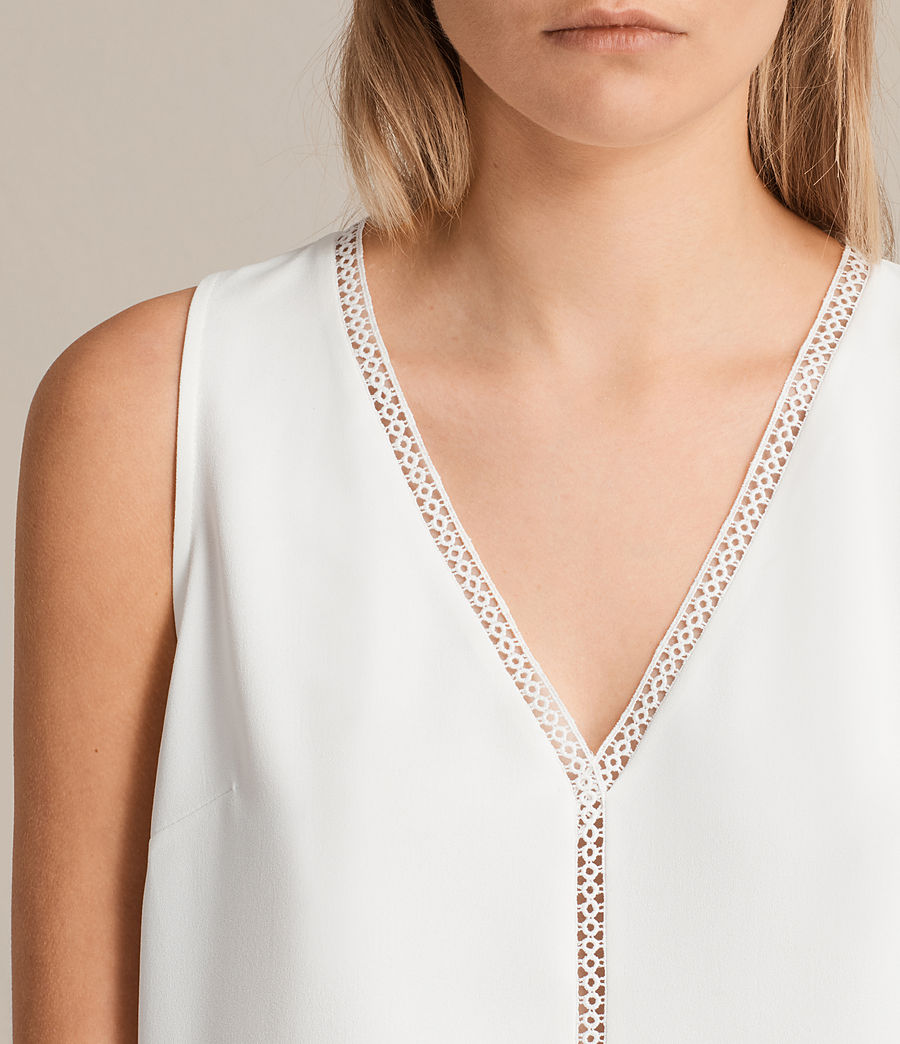 Womens Crace Top (chalk_white) - Image 2