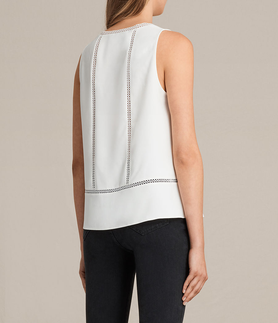 Womens Crace Top (chalk_white) - Image 4