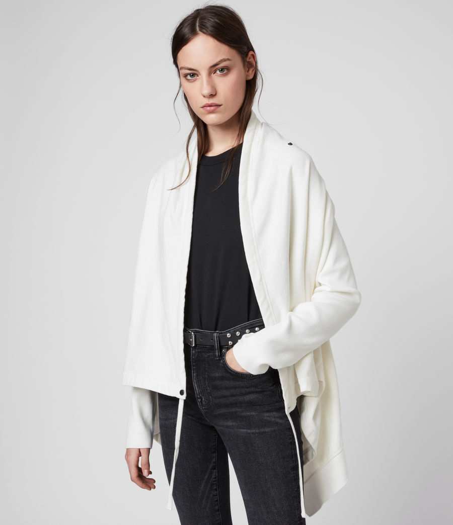 Women's Ivy Drape Cardigan (warm_white) - Image 1