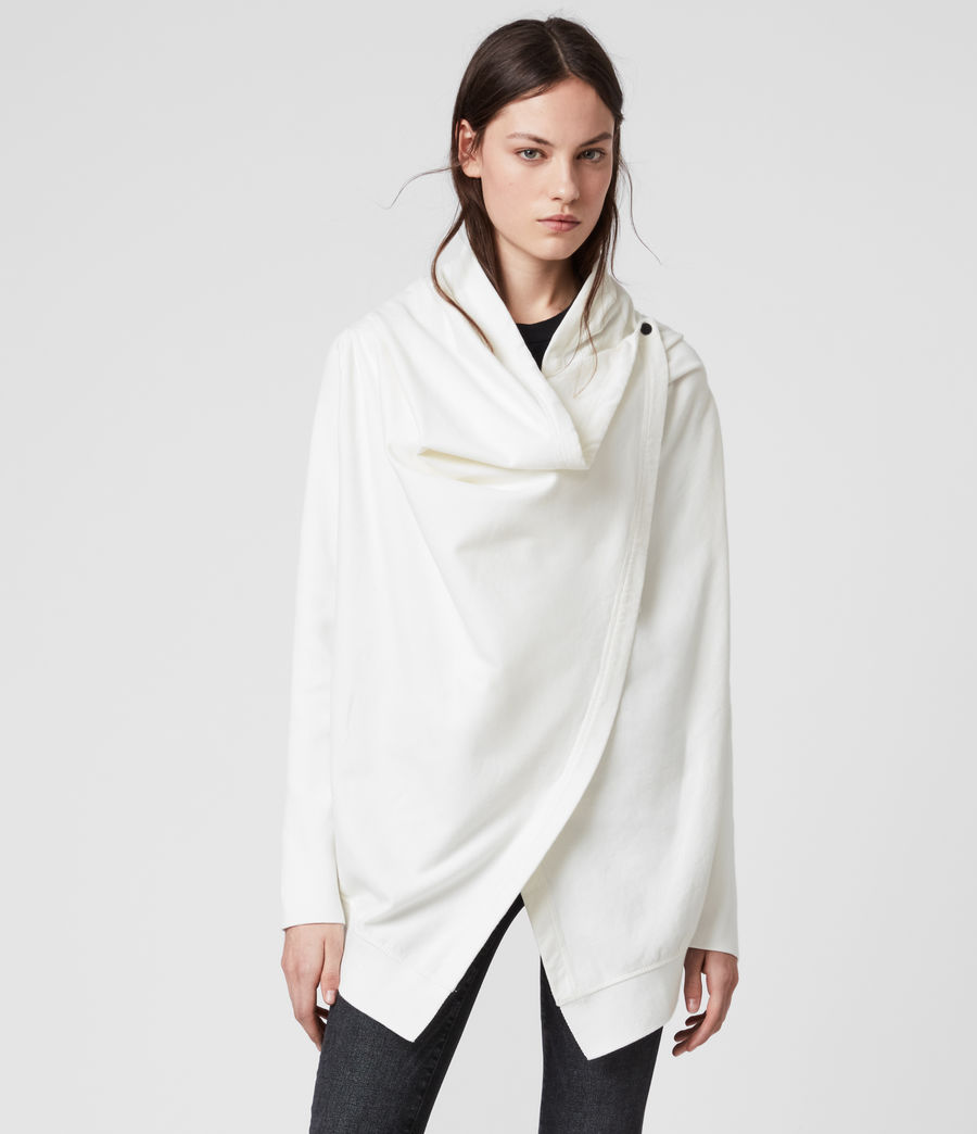 Women's Ivy Drape Cardigan (warm_white) - Image 4