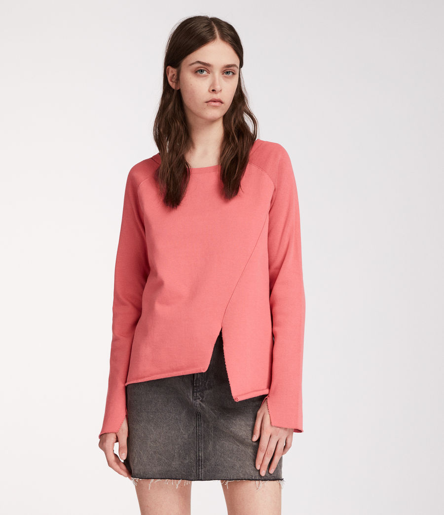 Femmes Sweat Pelo (coral_pink) - Image 1
