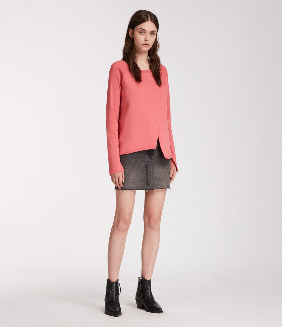 Femmes Sweat Pelo (coral_pink) - Image 3