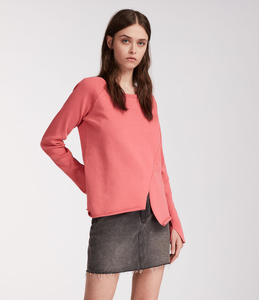 Femmes Sweat Pelo (coral_pink) - Image 4