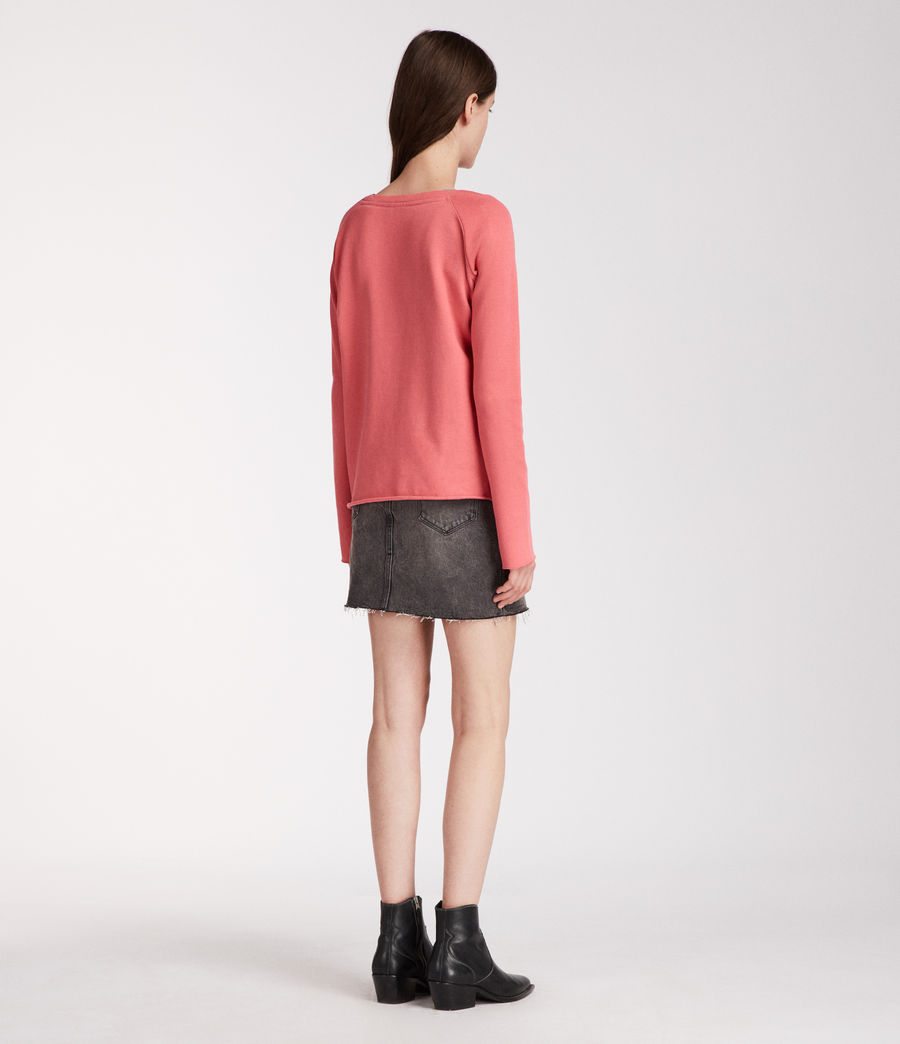 Femmes Sweat Pelo (coral_pink) - Image 5